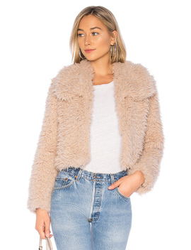 Faux Fur Jacket by Bardot