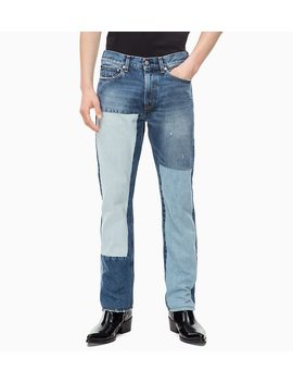 Ckj 035 Straight Patched Jeans by Calvin Klein Jeans