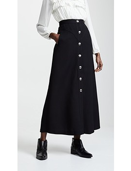 Buttoned Midi Skirt by Giambattista Valli