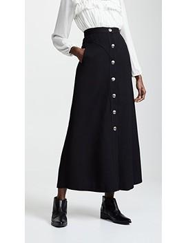 Buttoned Midi Skirt by Giambattista Valli
