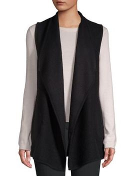 Classic Foldover Vest by Jones New York