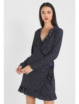 Dotted Frill Dress   Korte Jurk by Na Kd