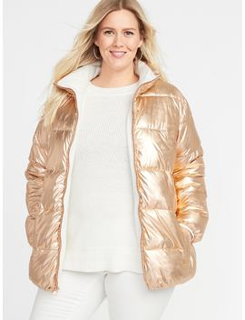 Plus Size Metallic Frost Free Jacket by Old Navy