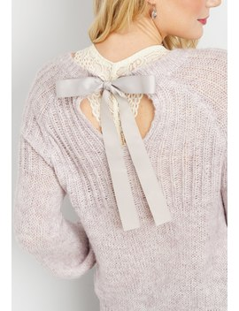Bow Back Pullover Sweater by Maurices