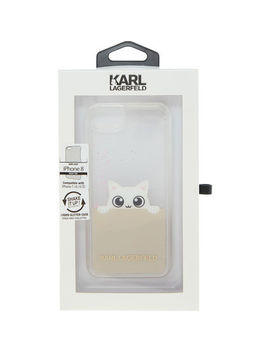 Pink Glitter Shaker Cat I Phone 8/7/6s/6 Case by Karl Lagerfeld