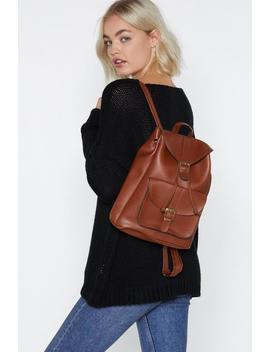 Want Wolf Pack Faux Leather Backpack by Nasty Gal
