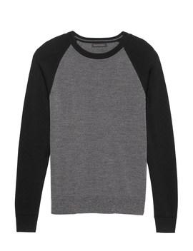 Extra Fine Italian Merino Wool Raglan Sweater by Banana Repbulic