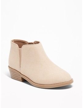 Faux Suede Booties For Toddler Girls by Old Navy