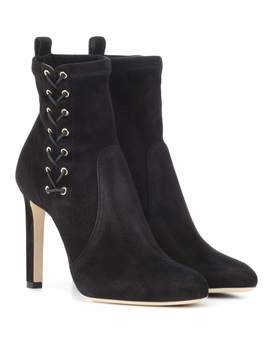 Mallory 100 Suede Ankle Boots by Jimmy Choo