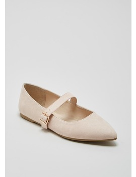 Buckle Pointed Ballet Shoes by Matalan