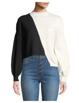 Elyse Cropped Asymmetrical Pullover by Alice + Olivia