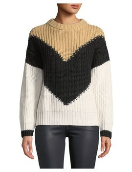 Two Tone Chunky Knit Sweater by Haute Rogue