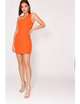 Jaci Orange Crepe One Shoulder Mini Dress by In The Style