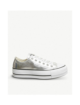 All Star Low Top Platform Canvas Trainers by Converse