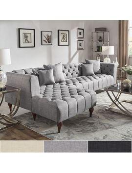 Danise Tufted Linen Upholstered Tuxedo Arm 4 by I Nspire Q