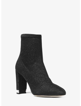 Mandy Glitter Stretch Knit Ankle Boot by Michael Michael Kors