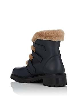 Leather & Shearling Ankle Boots by Barneys New York