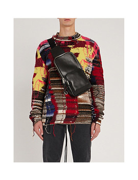 Distressed Multi Knit Cotton Jersey Jumper by Off White C/O Virgil Abloh