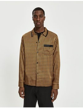 Geo Satin Shirt In Black by Stüssy