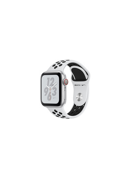 Apple Watch Nike+ Series 4 Gps + Cellular, 40mm Silver Aluminum Case With Pure Platinum/Black Nike Sport Band by Apple