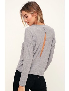 Markisha Heather Grey Sweater Top by Lulus