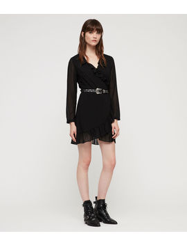 Kiyah Shimmer Dress by Allsaints