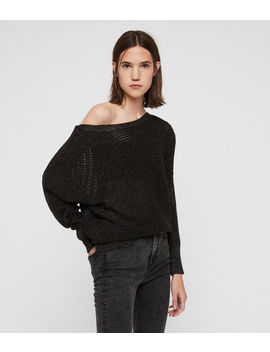 Elle Metallic Jumper by Allsaints