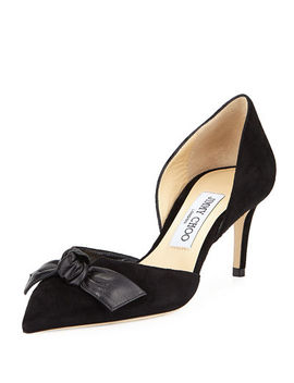 Twinkle Suede Bow D'orsay Pump by Jimmy Choo