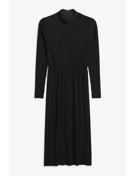 Creased Turtleneck Dress by Monki