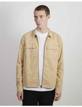 Zip Overshirt Tan by The Idle Man