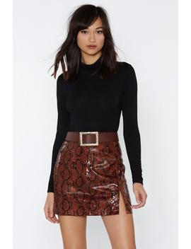 Let's Snake Up Mini Skirt by Nasty Gal