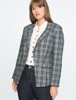 Draper James For Eloquii Double Breasted Blazer by Eloquii
