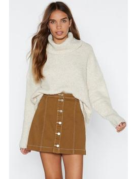 Oversize Up The Competition Turtleneck Sweater by Nasty Gal