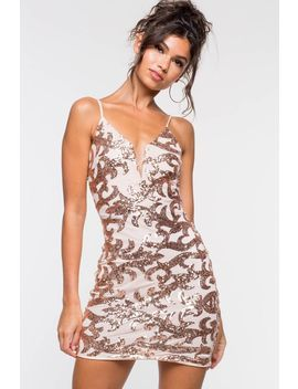 Aurelia Sequin Bodycon Dress by A'gaci