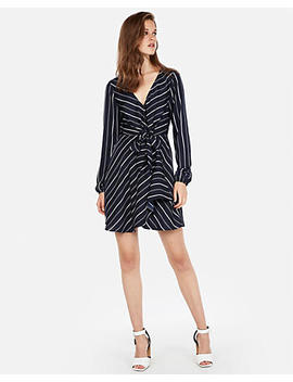 Knotted Front Faux Wrap Dress by Express