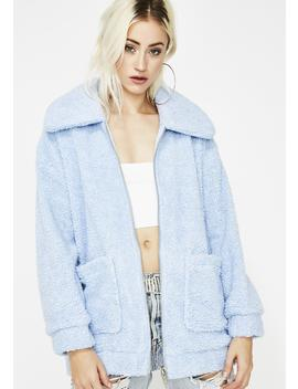 Arctic Foxx Fuzzy Jacket by Hot Delicious