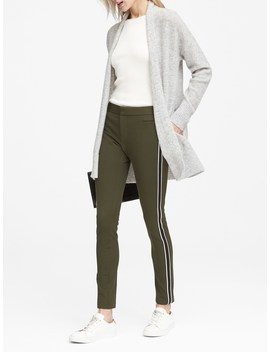 Petite Sloan Skinny Fit Bi Stretch Ankle Pant With Side Stripe by Banana Repbulic