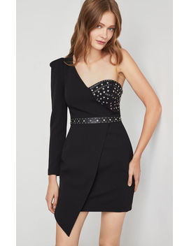 Asymmetrical One Shoulder Dress by Bcbgmaxazria