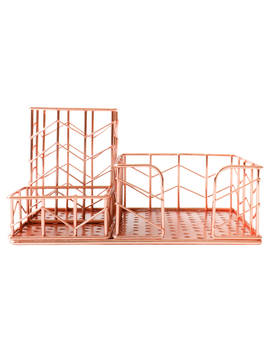 House By John Lewis Desk Tidy, Rose Gold by House By John Lewis