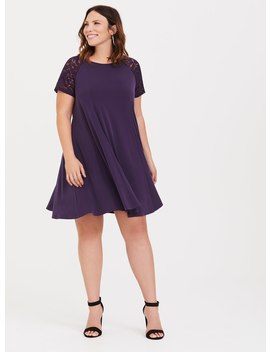 Purple Studio Knit Trapeze Dress by Torrid