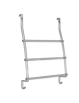Inter Design® 3 Bar Over The Door Towel Rack In Chrome by Bed Bath And Beyond