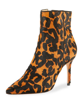 Miryan Leopard Printed Fur Booties by Schutz