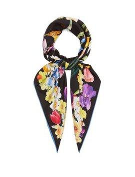Floral Print Silk Twill Scarf by Dolce & Gabbana