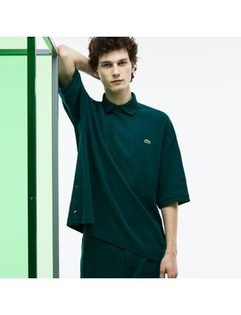 Men's Fashion Show Loose Fit Buttoned Sleeves Polo by Lacoste