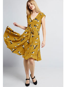 Originally Offbeat Midi Dress by Collectif