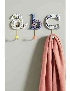 Handpainted Monogram Hook by Anthropologie