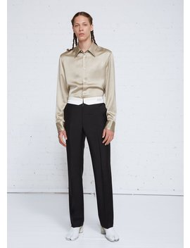 Tropical Wool Mohair Reversed Waistband Trouser by Maison Margiela
