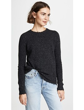Distressed Crew Cashmere Sweater by Autumn Cashmere