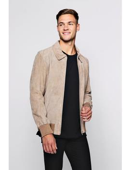 Luxe Real Suede Ma1 Bomber by Boohoo