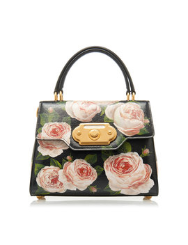 Welcome Floral Print Leather Bag by Dolce & Gabbana
